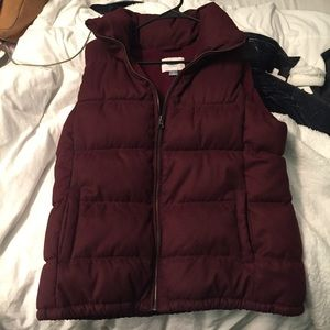 Old navy Maroon puffer vest